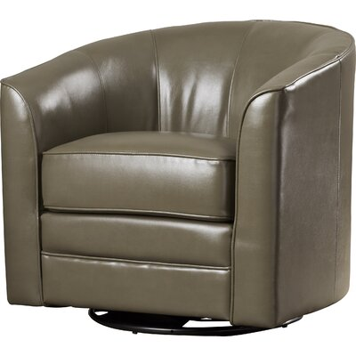 Wells Swivel Barrel Chair Upholstery: Grey