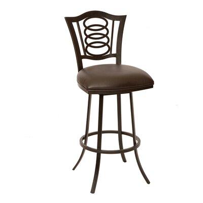 Wilfred 26 Swivel Bar Stool Upholstery: Coffee
