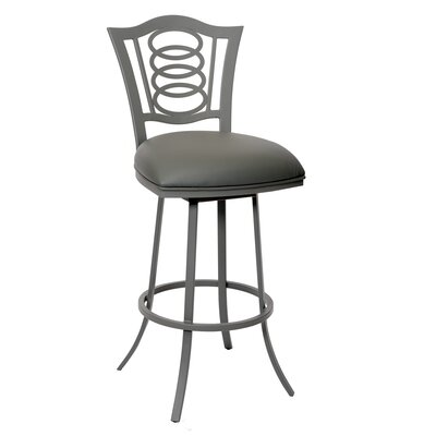 Wilfred 26 Swivel Bar Stool Upholstery: Gray