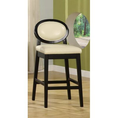 Ulysses 26 Bar Stool with Cushion Upholstery: Cream