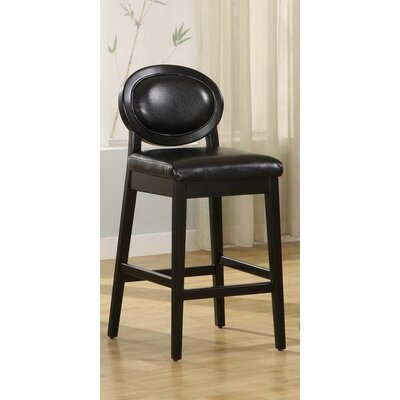 Ulysses 26 Bar Stool with Cushion Upholstery: Black