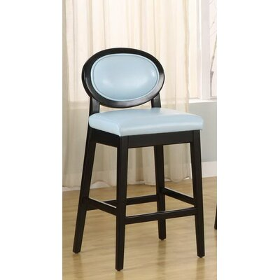 Ulysses 26 Bar Stool with Cushion Upholstery: Sky Blue