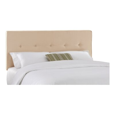 Morton Upholstered Panel Headboard Size: Queen, Color: Oatmeal