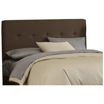 Morton Upholstered Panel Headboard Size: Twin, Color: Chocolate