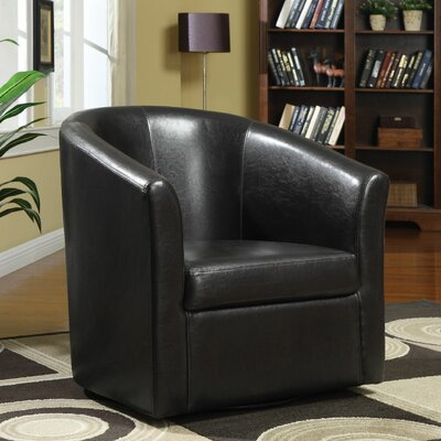 Yancy Barrel Chair Upholstery: Dark Brown