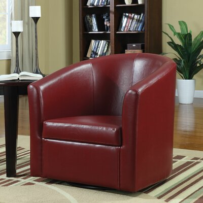 Yancy Barrel Chair Upholstery: Red