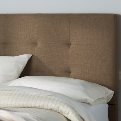 Bulfinch Upholstered Panel Headboard Color: Grenwich Pecan, Size: Full / Queen