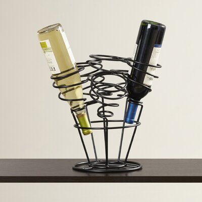 Varnum 6 Bottle Tabletop Wine Rack Finish: Black