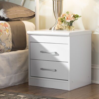 Hornby 2 Drawer Nightstand Color: White