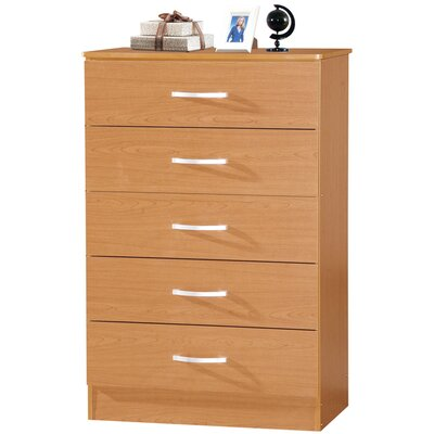 Chester 5 Drawer Chest Color: Beech