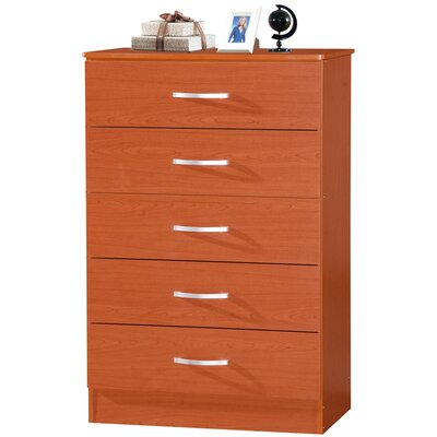 Chester 5 Drawer Chest Color: Cherry