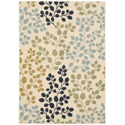 Brockenhurst Ivory Indoor/Outdoor Area Rug Rug Size: Rectangle 53 x 75