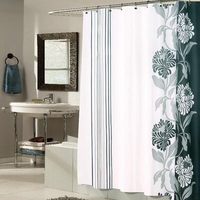 Pettingill Shower Curtain Color: Black / White