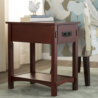 Surrey 1 Drawer End Table Color: Cherry