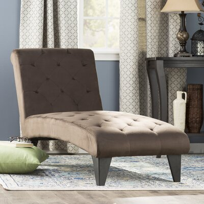 Cooke Tufted Chaise Upholstery: Chocolate