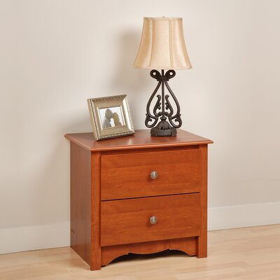 Hayman 2 Drawer Nightstand Color: Cherry