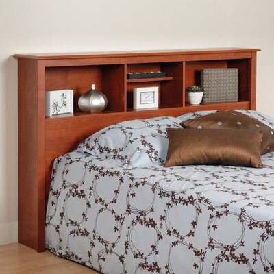 Sybil Bookcase Headboard Size: Full, Color: Cherry