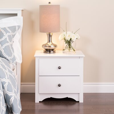 Sybil 2 Drawer Nightstand Finish: White