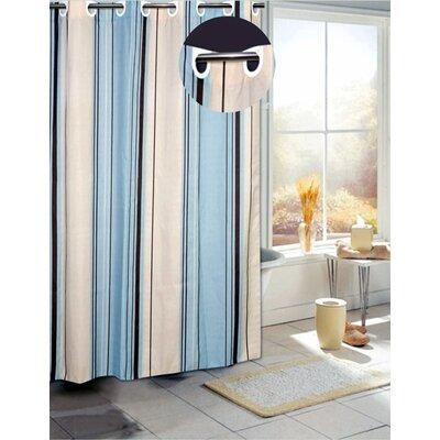 Melvina Stripes B Shower Curtain Color: Blue