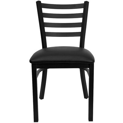 Bartlet Upholstered Side Chair Color: Black Vinyl