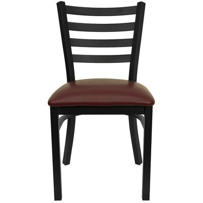 Bartlet Upholstered Side Chair Color: Burgundy Vinyl