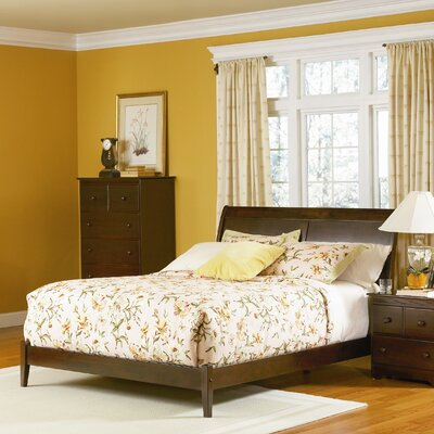 Winstead Platform Bed Size: Queen, Color: Antique Walnut