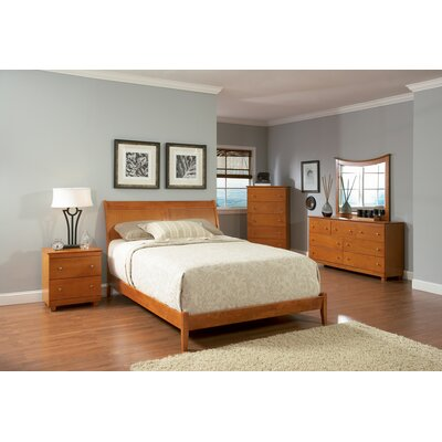 Winstead Platform Bed Size: King, Color: Caramel Latte