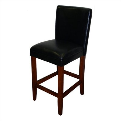 Mason 27.5 Bar Stool Upholstery: Black