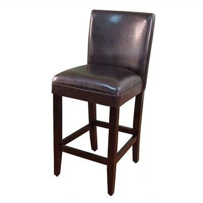 Mason 27.5 inch Bar Stool Upholstery: Brown