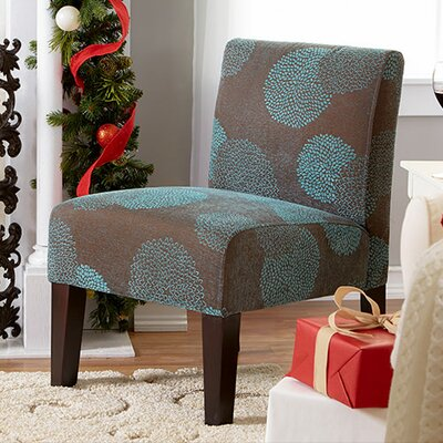 Slipper Chair Upholstery: Blue Sunflower