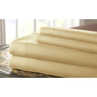 Gaston Microfiber Sheet Set Size: King, Color: Straw