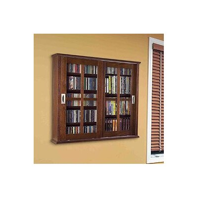 Jones Multimedia Wall Mounted Cabinet Color: Walnut