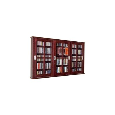 Jones Multimedia Wall Mounted Cabinet Color: Dark Cherry