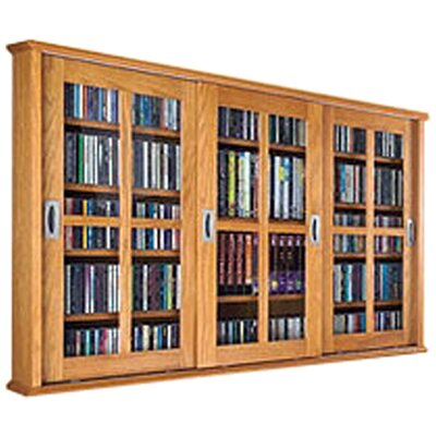 Jones Multimedia Wall Mounted Cabinet Color: Oak