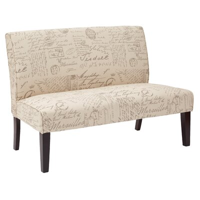 Shelton Loveseat Upholstery: Beige/Cedar Brown