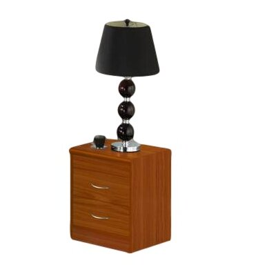 Adams 2 Drawer Nightstand Color: Cherry