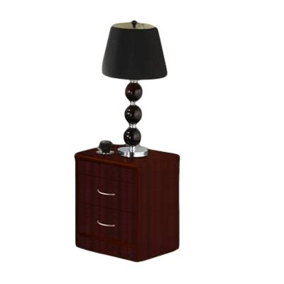 Adams 2 Drawer Nightstand Color: Mahogany