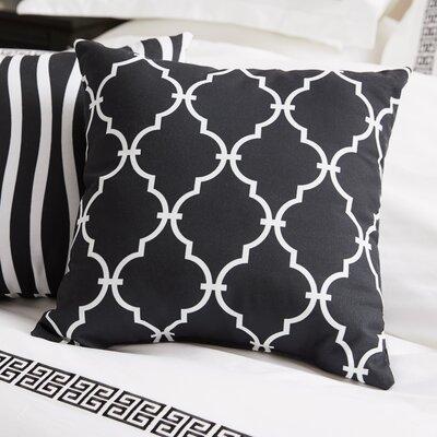 Reuter Trellis Throw Pillow Size: 18 H x 18 W, Color: Black