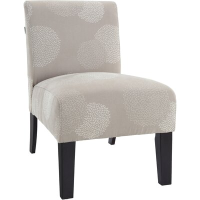 Loring Slipper Chair Upholstery: Ivory Sunflower