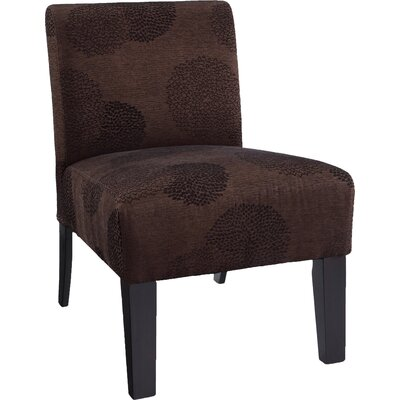 Slipper Chair Upholstery: Brown Sunflower