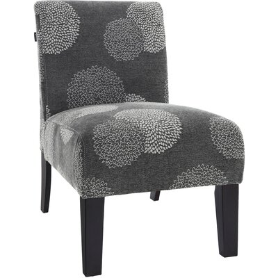 Loring Slipper Chair Upholstery: Charcoal Sunflower