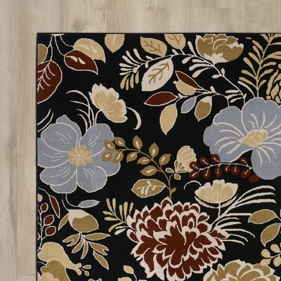 Norine Black Area Rug Rug Size: Rectangle 67 x 96