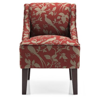 Hilbert Slipper Chair Upholstery: Crimson