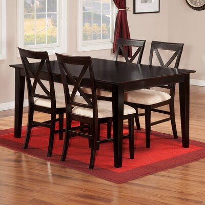 Crestwood 5 Piece Dining Set Finish: Espresso