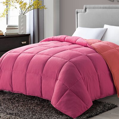 Antonia Paradise All Season Down Alternative Comforter Color: Pink, Size: King