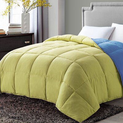 Antonia Paradise All Season Down Alternative Comforter Color: Yellow, Size: Twin