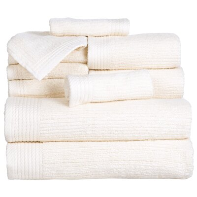 Pernelia 10 Piece Egyptian Quality Cotton Towel Set Color: Bone