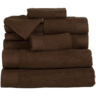 Pernelia 10 Piece Egyptian Quality Cotton Towel Set Color: Chocolate