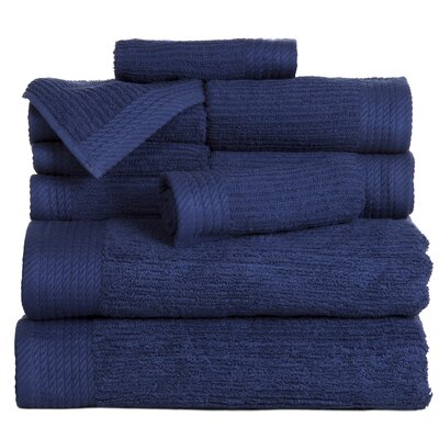 Pernelia 10 Piece Egyptian Quality Cotton Towel Set Color: Navy