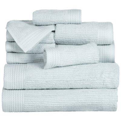 Pernelia 10 Piece Egyptian Quality Cotton Towel Set Color: Seafoam